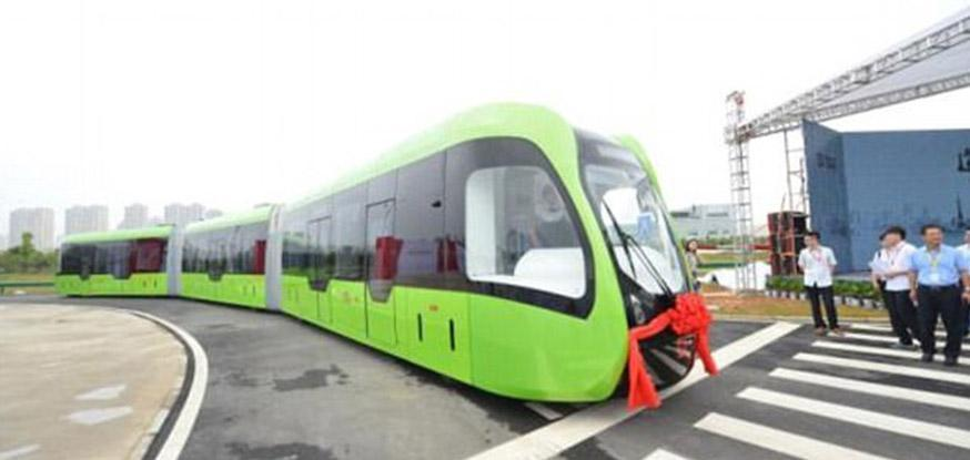 China unveils the future of urban transport with track-less